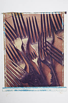Tableware Photograph - Antique Forks by Garry Gay