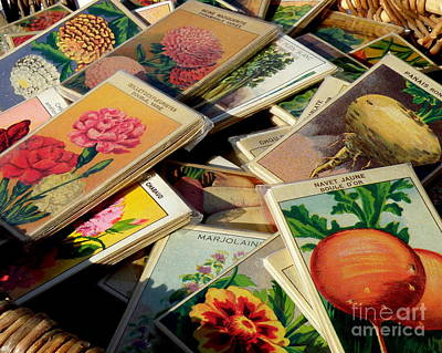 Antique French Seed Packs Art Print