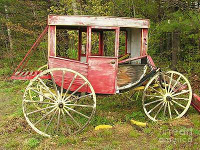 Art Print featuring the photograph Old Horse Drawn Carriage by Sherman Perry