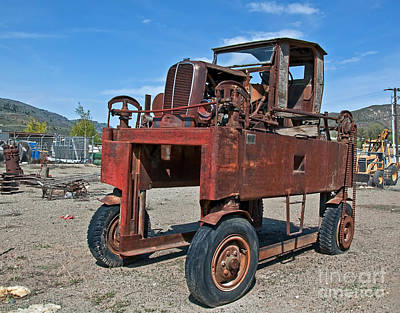 Photograph - Antique Lumber Carrier by Valerie Garner