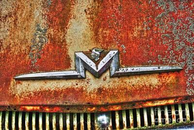 Antique Mercury Auto Logo Art Print by Dan Stone