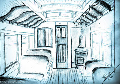 Drawing - Antique Passenger Car by Shannon Harrington