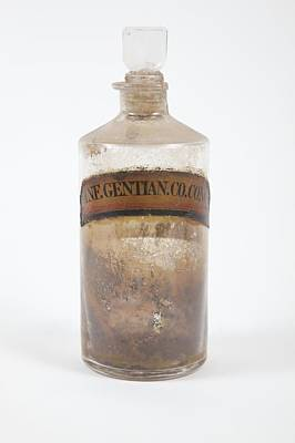 Stopper Photograph - Antique Pharmacy Bottle by Gregory Davies, Medinet Photographics