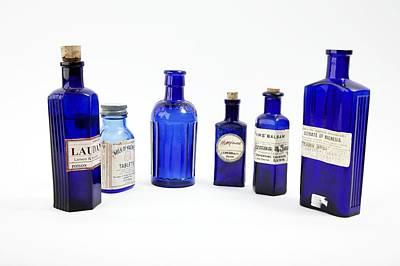 Antique Pharmacy Bottles Art Print by Gregory Davies, Medinet Photographics