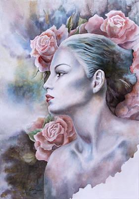 Antique Rose Art Print by Tanya Jacobsz