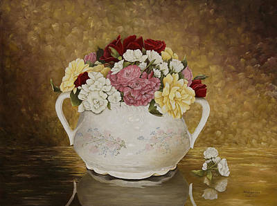 Arkansas Painting - Antique Roses by Mary Ann King