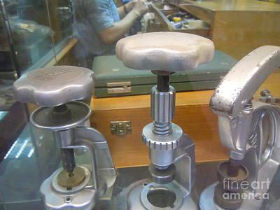 Painting - antique shop Rolex vintage tools  by Lam Lam