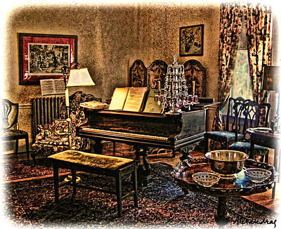 Photograph - Antique Sitting Room by Alexandra Jordankova