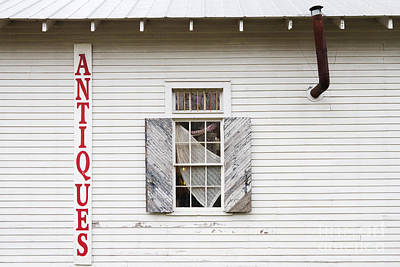 Overhang Photograph - Antique Store Facade by Jeremy Woodhouse
