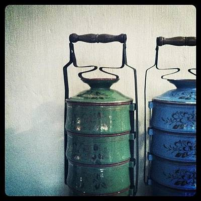 Still Life Photograph - Antique Tiffin Carriers by Michael Ong
