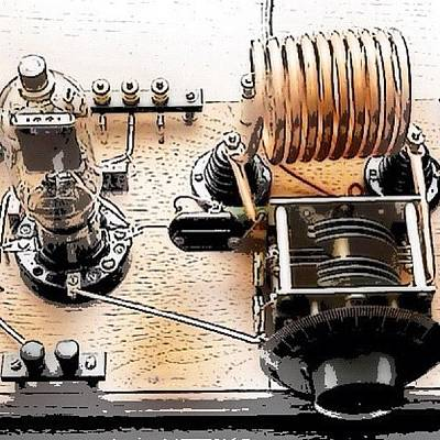 Sketch Photograph - Antique Transmitter by Edward Sobuta