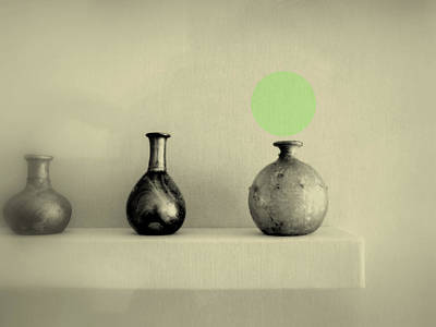Photograph - Antique Vases Still Life Altered I by Kathleen Grace