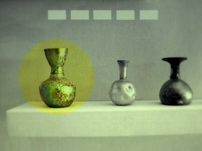 Photograph - Antique Vases Still Life Altered II by Kathleen Grace
