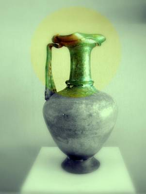Photograph - Antique Vases Still Life Altered IIi by Kathleen Grace