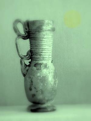 Photograph - Antique Vases Still Life Altered Iv by Kathleen Grace