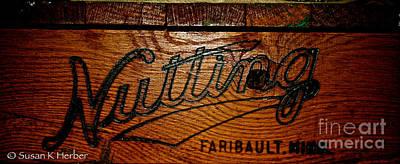 Nutting Cart Photograph - Antique Wooden Cart by Susan Herber