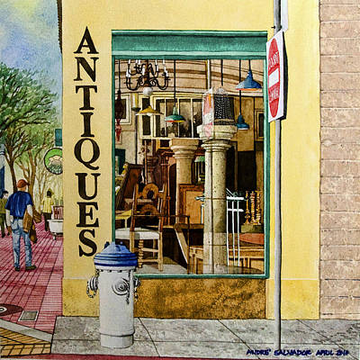 Furniture Store Painting - Antiques by Andre Salvador