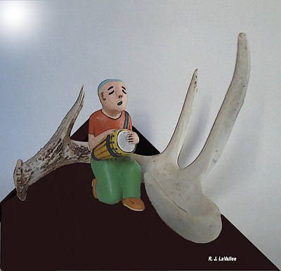 Digital Art - Antler Drummer by Roland LaVallee