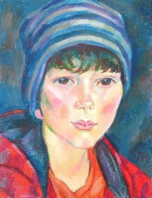 Blue Painting - Anton Russo by Leonid Petrushin
