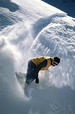 Natural Forces Photograph - Antonio Davilla Snowboarding In The San by Bill Hatcher