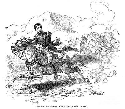 Antonio Lopez De Santa Anna Art Print by Granger
