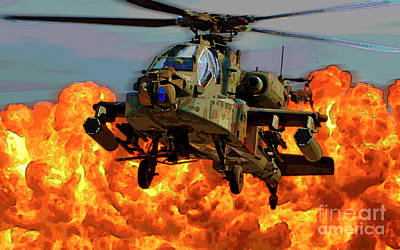 Photograph - Apache Helicopter by Herb Paynter