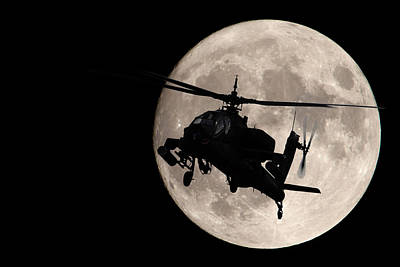 Apache In The Moonlight Art Print