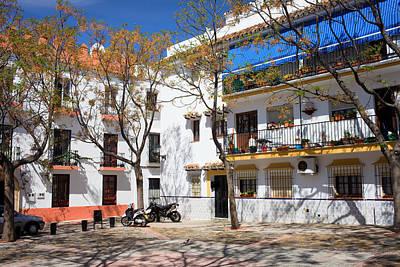 Apartment Houses In Marbella Art Print by Artur Bogacki