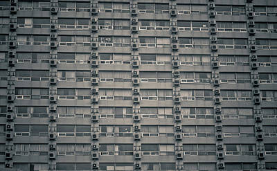 Conformity Photograph - Apartment Windows by Tomomi