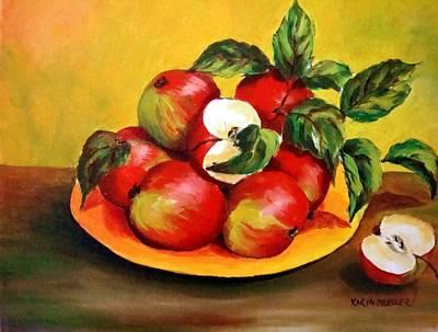 Karin Mueller Painting - Apfelschaus by Karin Mueller