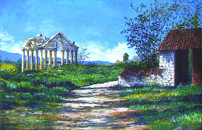 Painting - Aphrodesias Temple by Lou Ann Bagnall