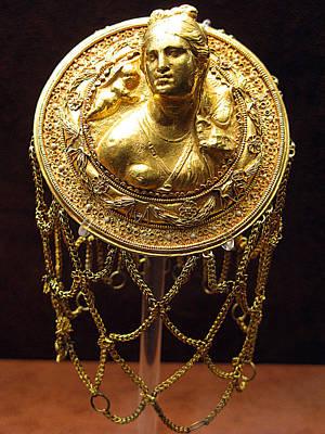 Aphrodite Gold Hairnet Art Print by Andonis Katanos