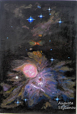 Orion Painting - Aphrodite In Orion's Nebula by Augusta Stylianou