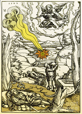 The Book Of Revelation Photograph - Apocalypse, 16th Century by Photo Researchers