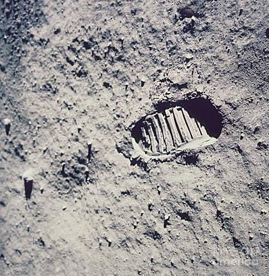 Apollo 11 Footprint Art Print by Nasa