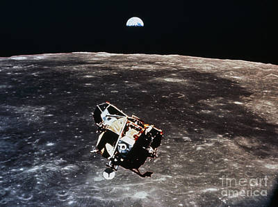 Photograph - Apollo 11 Photo Of Lunar Module Ascent by NASA Science Source