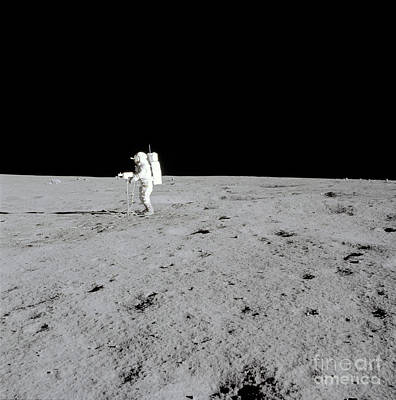 Apollo 14 Astronaut Makes A Pan Art Print by Stocktrek Images