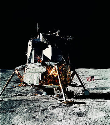 Photograph - Apollo 14 Lunar Lander by Nasa