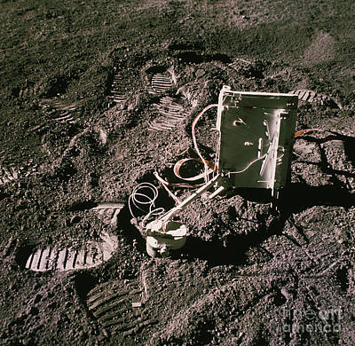 Apollo 15 Photograph - Apollo 15 Lunar Experiment by Nasa