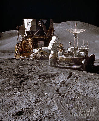 Photograph - Apollo 15 Lunar Roving Vehicle by Nasa