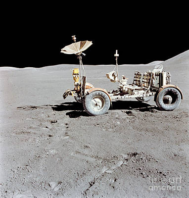 Apollo 15 Photograph - Apollo 15 Lunar Roving Vehicle by Stocktrek Images