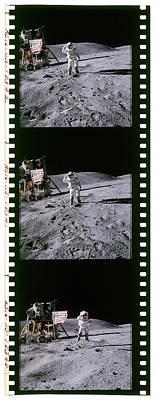 35mm Photograph - Apollo 16 Astronauts by Detlev Van Ravenswaay