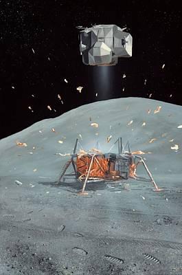 Apollo 17 Ascent Stage, Artwork Art Print by Richard Bizley