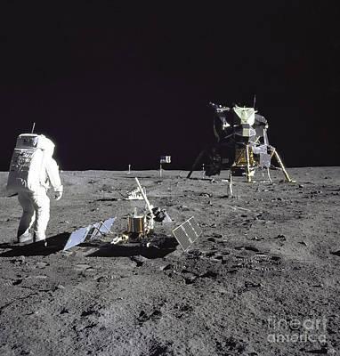 Photograph - Apollo 17 Moonwalk by Stocktrek Images