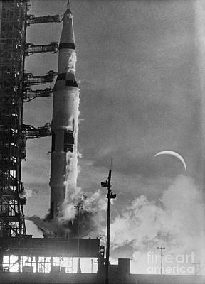 Photograph - Apollo 8: Launch, 1968 by Granger