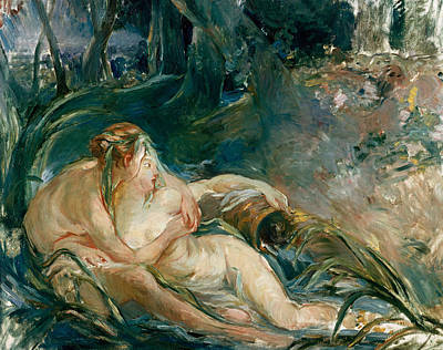 Kiss Painting - Apollo Appearing To Latone by Berthe Morisot
