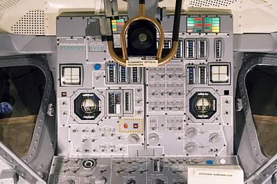 Cockpit Photograph - Apollo Lunar Module Interior by Mark Williamson