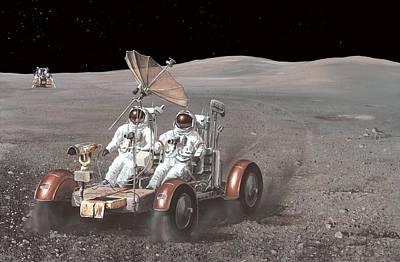 Apollo 15 Photograph - Apollo Lunar Rover, Artwork by Richard Bizley