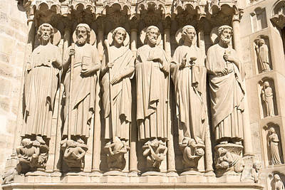 Photograph - Apostles On Last Judgement Portal by Fabrizio Ruggeri