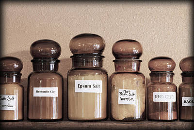 Row Of Bottles Photograph - Apothecary Shop Shelves.  Battle Ground by Bryan Mullennix